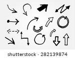 hand drawn arrows.arrows set... | Shutterstock .eps vector #282139874