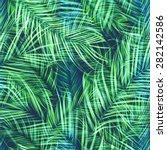 seamless tropical flower  plant ...   Shutterstock . vector #282142586