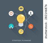 strategic planning  flat style  ... | Shutterstock .eps vector #282146876