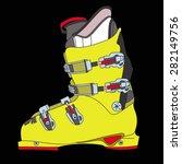 mountain ski boot | Shutterstock .eps vector #282149756