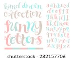 vector set with alphabet  funny ... | Shutterstock .eps vector #282157706