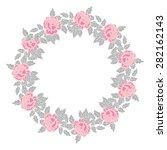 cute floral border on white...   Shutterstock .eps vector #282162143