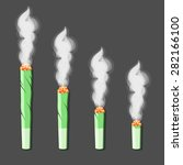 burning roll up with hemp in... | Shutterstock .eps vector #282166100
