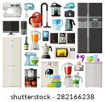 Home Appliances Icons Set. Set...