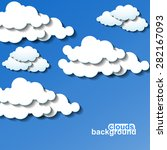 clouds background. vector... | Shutterstock .eps vector #282167093