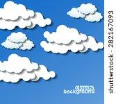 clouds background. vector... | Shutterstock .eps vector #282167093