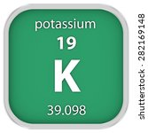 potassium material on the... | Shutterstock . vector #282169148