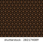seamless chocolate brown... | Shutterstock . vector #282174089