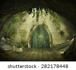 Fantasy Cave With A Ruined...