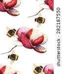 Watercolor Magnolia   Bumblebe...