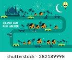hari raya  balik kampung... | Shutterstock .eps vector #282189998