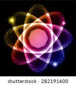 dark yellow pink blue shining...   Shutterstock .eps vector #282191600