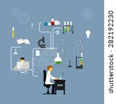 process research in a chemical...   Shutterstock . vector #282192230