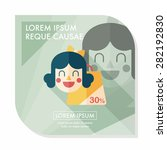 sale shopaholic flat icon with... | Shutterstock .eps vector #282192830