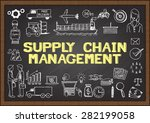 business doodles about supply... | Shutterstock .eps vector #282199058