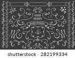 hand drawn design elements  | Shutterstock .eps vector #282199334
