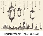 ramadan celebration vintage... | Shutterstock .eps vector #282200660