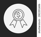 financial money symbol line icon | Shutterstock .eps vector #282201686