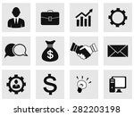 business icons | Shutterstock .eps vector #282203198