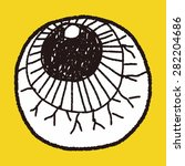 eyes ball doodle | Shutterstock .eps vector #282204686