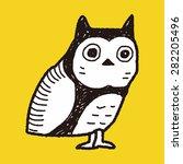 owl doodle   Shutterstock .eps vector #282205496