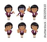 set of businesswoman characters ... | Shutterstock .eps vector #282205610
