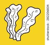 kelp doodle | Shutterstock .eps vector #282206834