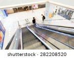defocused view from escalator...   Shutterstock . vector #282208520