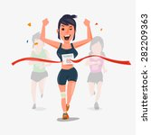 finishing runner character... | Shutterstock .eps vector #282209363