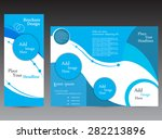 blue modern brochure | Shutterstock .eps vector #282213896