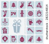 merry christmas and happy new... | Shutterstock .eps vector #282214814