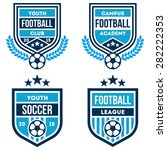 football badges set | Shutterstock .eps vector #282222353