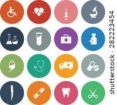 vector medical icon set. | Shutterstock .eps vector #282223454