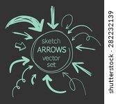 sketch arrows vector set | Shutterstock .eps vector #282232139