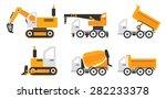 construction vehicles | Shutterstock .eps vector #282233378