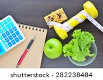 calculate calories to lose...   Shutterstock . vector #282238484