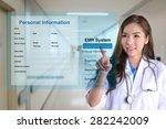 female doctor using electronic... | Shutterstock . vector #282242009