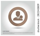 male user icon  circle long... | Shutterstock .eps vector #282243809