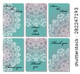 vintage vector card templates.... | Shutterstock .eps vector #282247193
