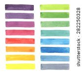 watercolor rainbow stripes made ... | Shutterstock .eps vector #282250328