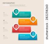 modern vector abstract step... | Shutterstock .eps vector #282258260