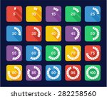 loading or percentage icons set ... | Shutterstock .eps vector #282258560