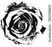 Stock vector black silhouette of rose vector illustration 282258803