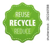 recycle green label or symbol... | Shutterstock .eps vector #282260588