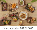 thai grilled set | Shutterstock . vector #282262400