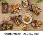 thai grilled set | Shutterstock . vector #282262400