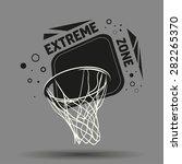 streetball and basketball... | Shutterstock . vector #282265370