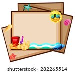 blank banners with beach design | Shutterstock .eps vector #282265514
