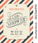baby shower invitation in retro ... | Shutterstock .eps vector #282266990