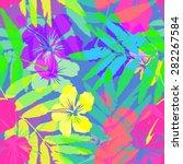 vivid colors bright tropical... | Shutterstock .eps vector #282267584